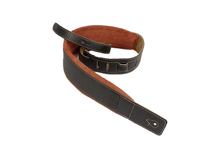 Godin Black Leather/Rust Suede Guitar Strap