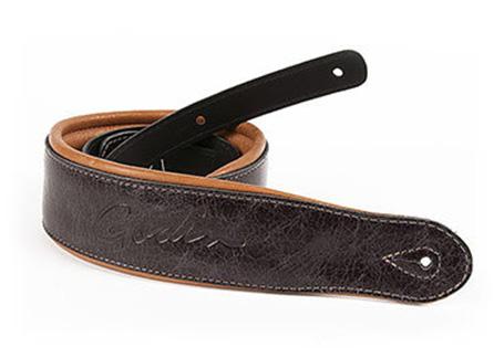 Godin Vintage Black/Tan Leather Strap