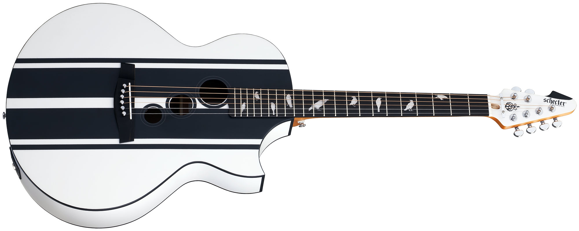 DJ Ashba Acoustic Satin White (SWHT) SKU #3718