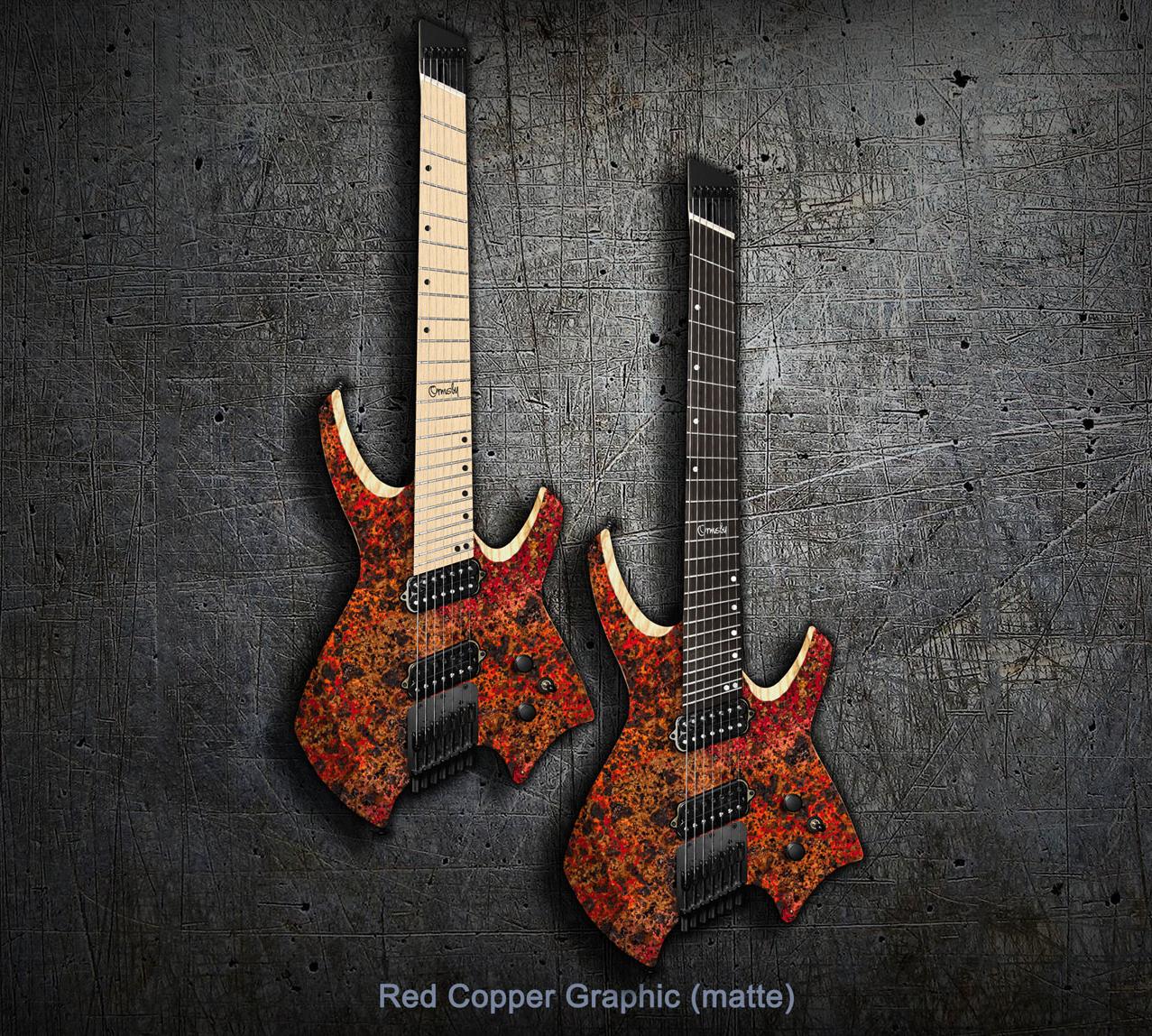 Goliath GTR MULTISCALE - Red Copper Graphic - Ebony or Maple Fretboard