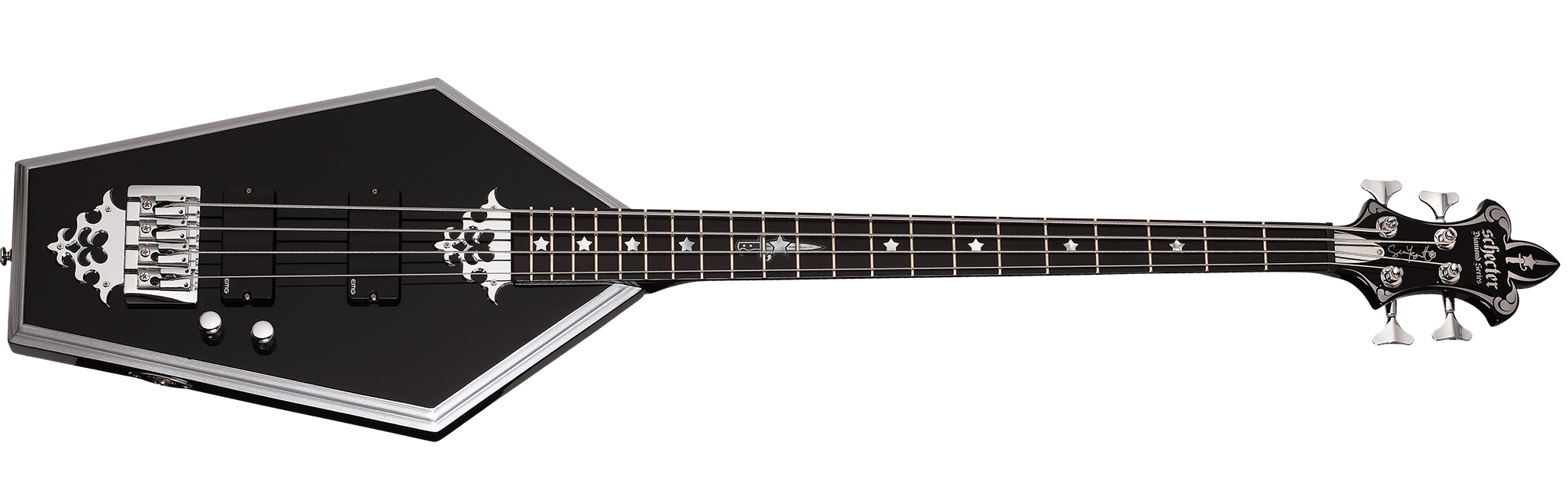 Sean Yseult Casket Bass Gloss Black (BLK) SKU #218